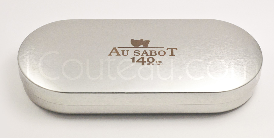 Gift box of the Au Sabot cutlery - 140 th Anniversary ebony wood handle