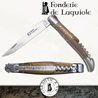 Fonderie de Laguiole BUNCH OF GRAPES: Knife Legende 22121 - Oak Barrel handle with corkscrew 5 treaded turns and 2 stainless bolsters - stainless blade 12C27 - hand guilloched spring - FORGED BUNCH OF GRAPES hand cut and chiseled