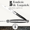 Fonderie de Laguiole DRAGONFLY: Knife Legende 1012 - Blond Tip Horn handle - stainless blade 14C28 - hand guilloched spring - FORGED DRAGONFLY hand cut and chiseled