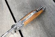 Fonderie de Laguiole Laguiole Legend knife bunch of grappes, Oak handle and corkscrew Fonderie de Laguiole