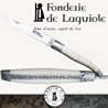 Fonderie de Laguiole BOAR : Knife Legende 1212 Bone handle - stainless blade 12C27 - hand guilloched spring - FORGED BOAR bee hand cut and chiseled