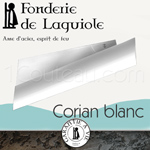 Fonderie de Laguiole: design knife PAUL said the Bleiz-Mor with blade in Swedish stainless steel sandvick 14 C 28 N - WHITE Corian handle