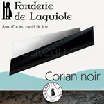 Fonderie de Laguiole: design knife PAUL said the Bleiz-Mor with blade in Swedish stainless steel sandvick 14 C 28 N - BLACK Corian handle