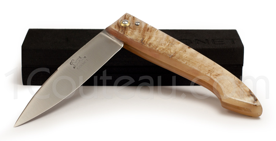 Capucin knife Ram horn full handle