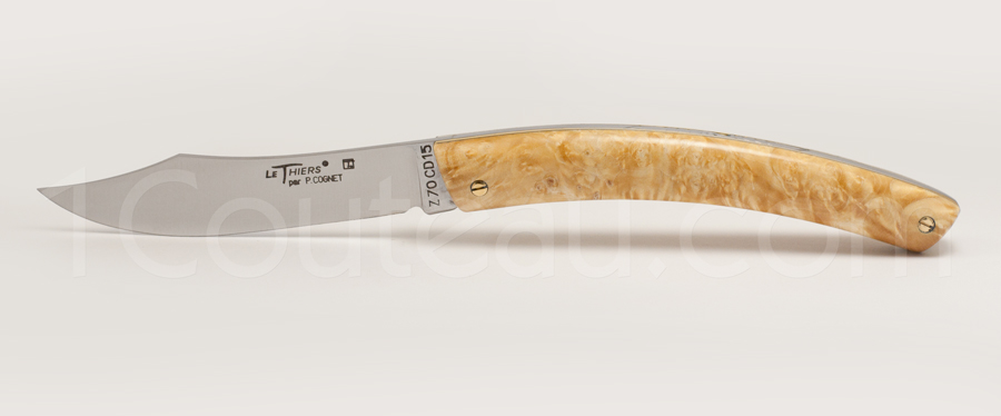 Le Thiers Knife Stabilized Maple tree handle