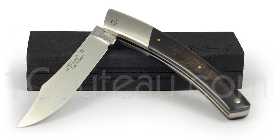 Le Thiers Knife stainless steel bolster and Buffalo horn handle