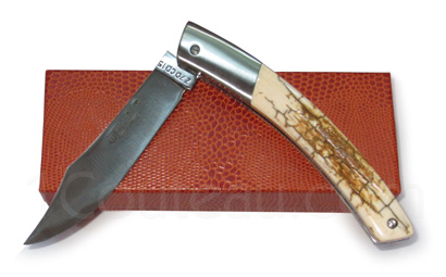 Le Thiers pocket knife by Pierre Cognet - Mammoth crust handle