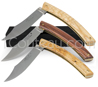Le Thiers pocket knives by Pierre Cognet - Z70CD15 stainless steel forged blade  brass plates - Varied woods handles