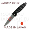 Japanese pocket knife MCUSTA 0013D - liner lock - DAMAS VG10 steel blade and african ebony handle