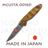 Japanese pocket knife MCUSTA 0016D - liner lock - DAMAS VG10 steel blade and Quince wood handle