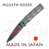 Japanese pocket knife MCUSTA 0033D - liner lock - DAMAS VG10 steel blade and handle - handle in the form of bamboo