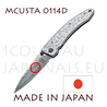 Japanese pocket knife MCUSTA 0114D - liner lock - DAMAS VG10 steel blade and hammered handle