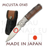 Japanese pocket knife MCUSTA 0145 - liner lock - VG10 steel blade - sculpted handle in cocobolo reminding the bamboo with DAMAS bolster