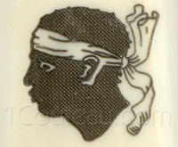 The Moors head, emblem of Corsica