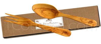 Gift box: Salad servers, A summer in Provence