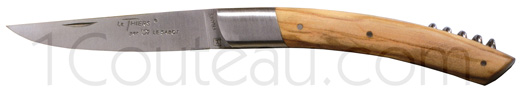 Le Thiers knives olive wood handle with corkscrew