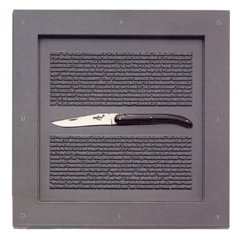 Forge de Laguiole knives, Box folding knife horn Philippe STARCK